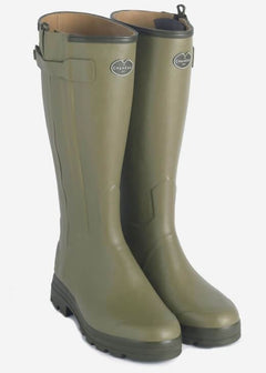 Le Chameau Chasseur Cuir Mens Leather Lined Wellingtons