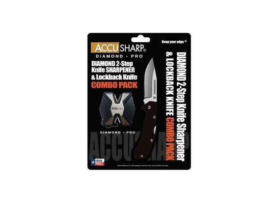 Accusharp Diamond PRO Two-Step & G10 Knife Combo (723) - reid outdoors