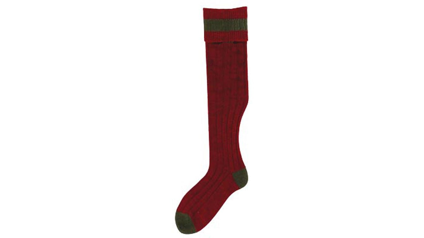 No.17 Stockings Cassat/Olive Socks by Bisley