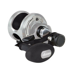 Okuma Andros A-16- 2 Speed 6+1bb Silver/Black Saltwater Reel - reid outdoors