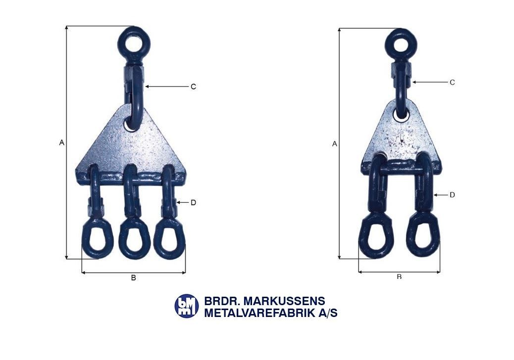 Blue line Triangles with swivels for trawling - reid outdoors