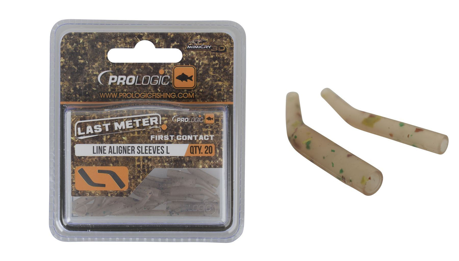 Prologic LM Mimicry Line Aligner Sleeves M 20pcs - reid outdoors