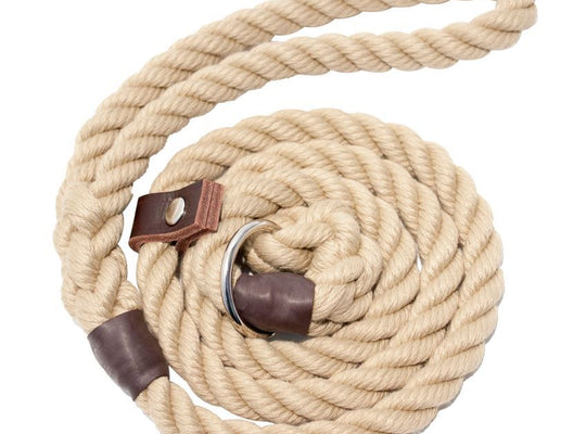 Dog Lead Natural Rope 10mm by Bisley