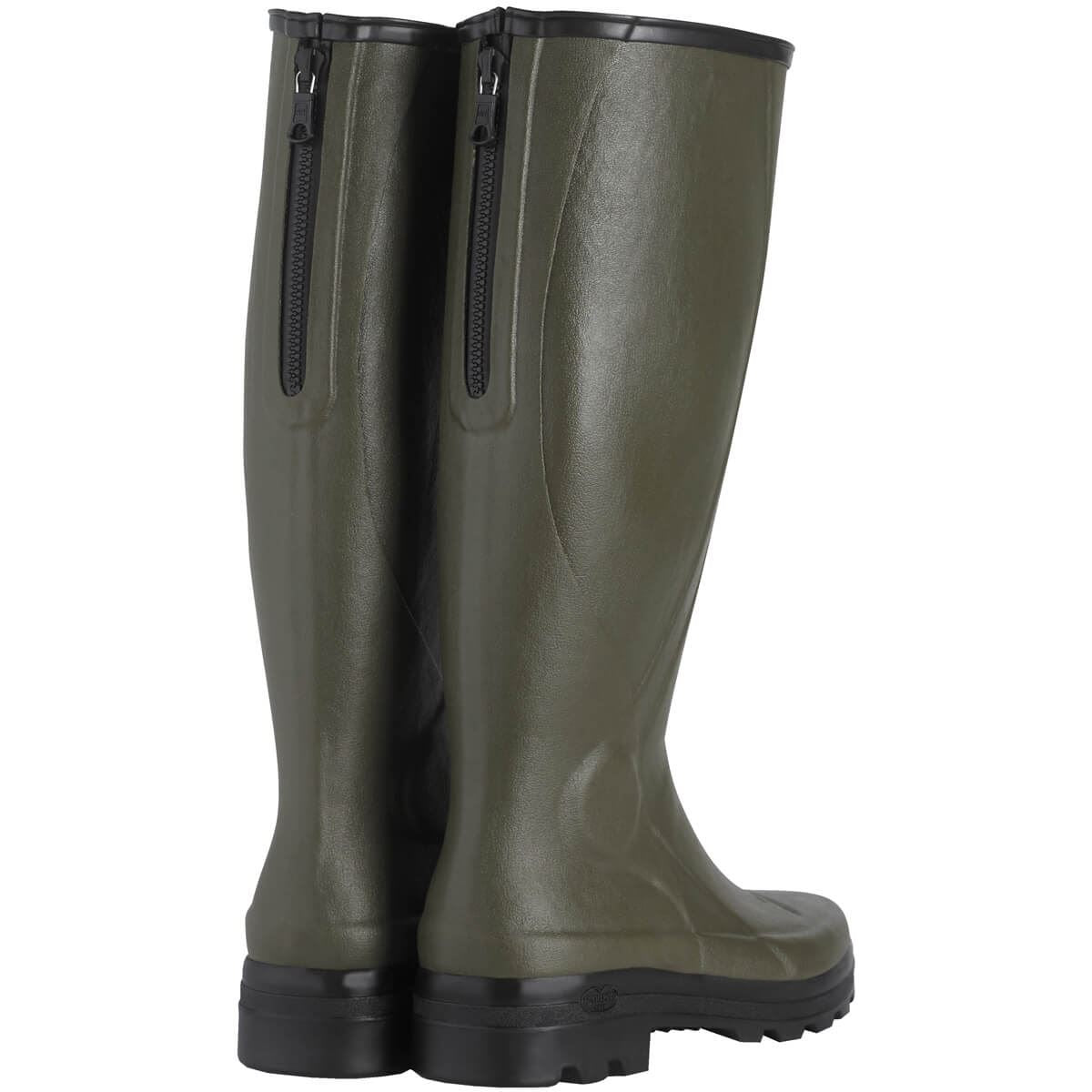 Le Chameau Mens Traqueur Wellingtons-Green