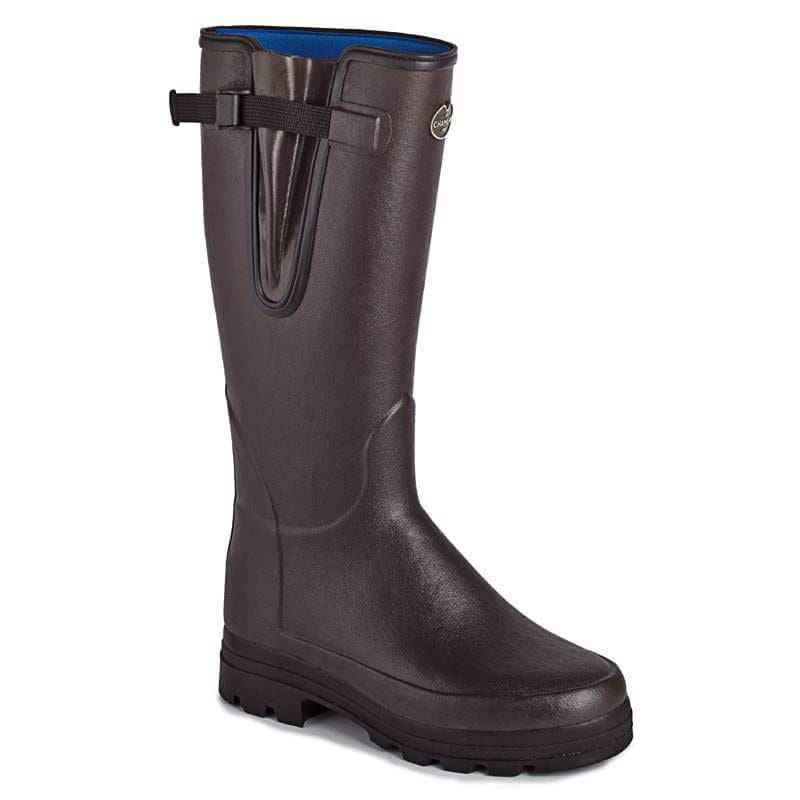 Le Chameau Mens Vierzonord Wellington Boots-Dark Brown