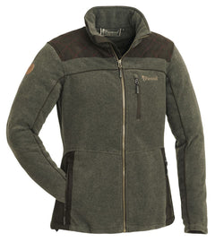 PINEWOOD LADIES DIANA EXCLUSIVE FLEECE - OLIVE MELANGE/SUEDE BROWN