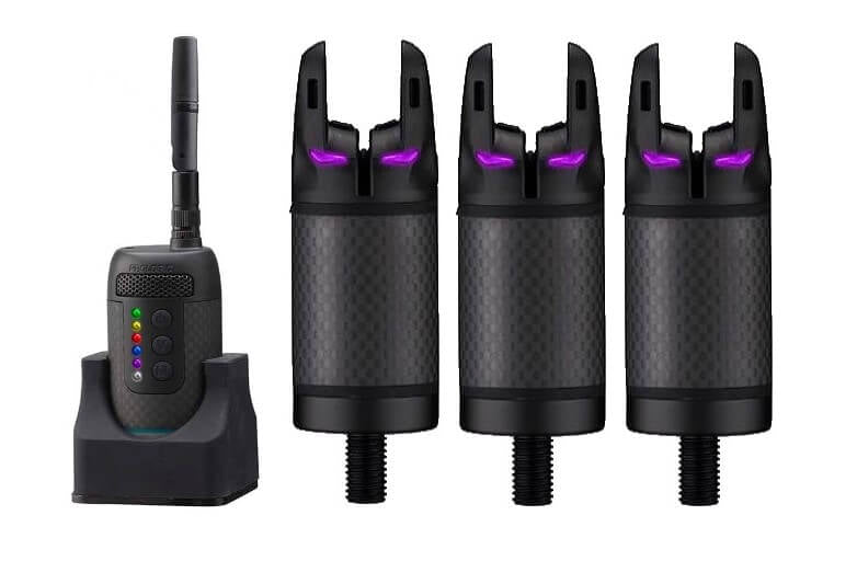 PL K3 Receiver + 3 X PL K3 Bite Alarm Purple