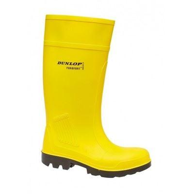 Dunlop Purofort Yellow wellies Safety Steel Toe Wellington Boot - reid outdoors