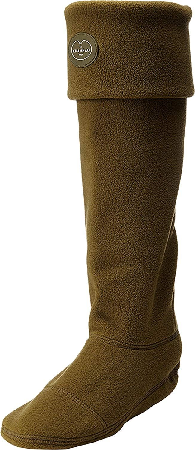 Le Chameau High Boot Polar Fleece Sock- Vert Bronze - Size UK 9/10 EU 43/44