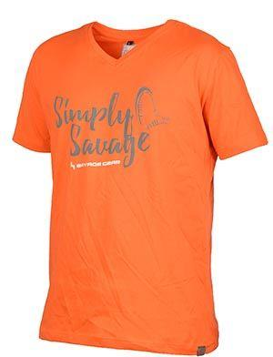 SG Simply Savage V-neck Tee Orange