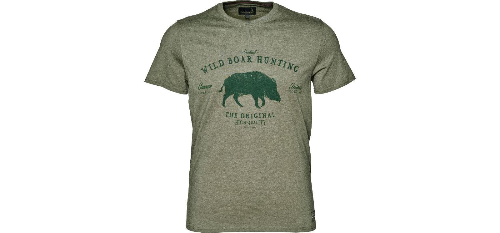 Seeland Aiden Printed T-Shirt - Duffel Green Melange - reid outdoors