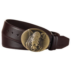Verney-Carron Belt with Boar Buckle