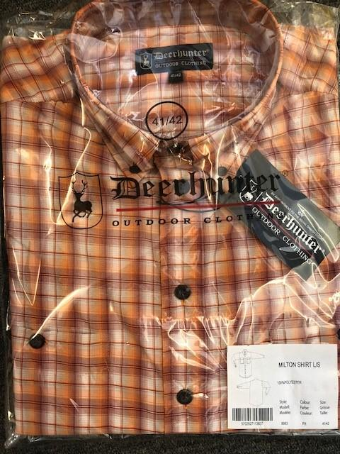Deerhunter Milton Shirt Orange Check - reid outdoors