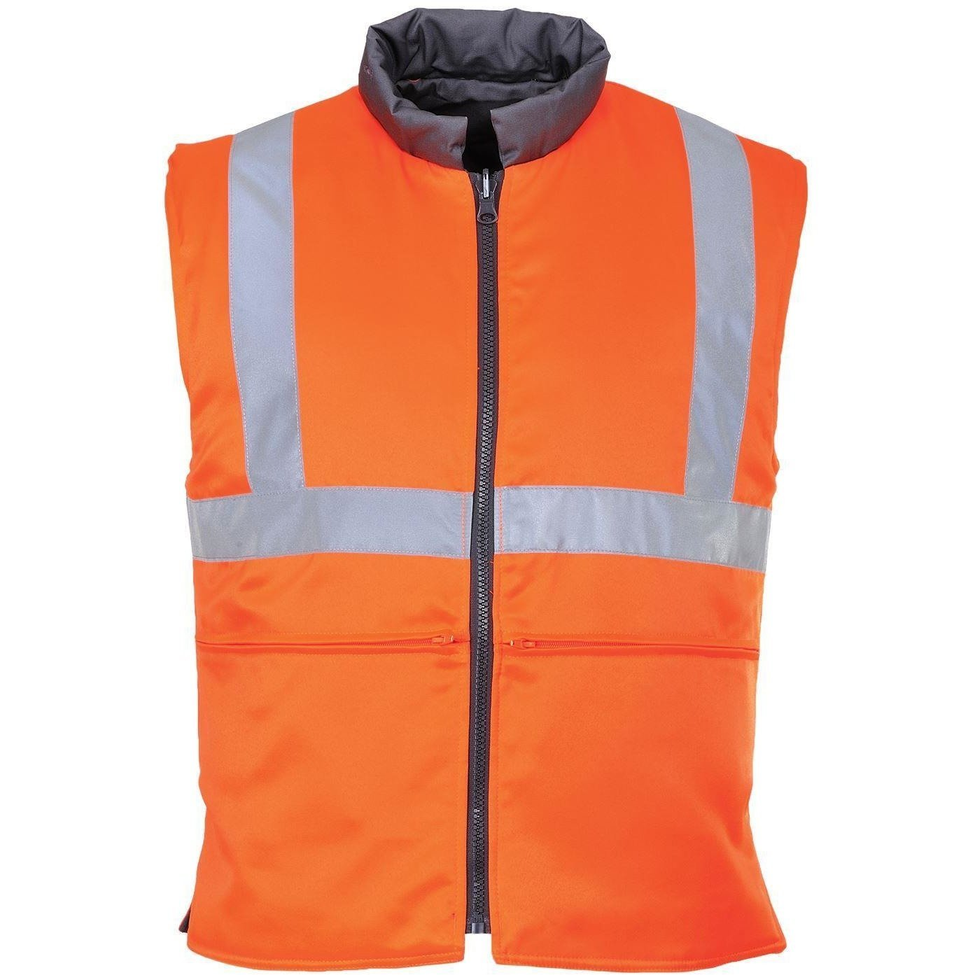 Portwest Hi-Vis Reversible Bodywarmer GO/RT RT44 - reid outdoors