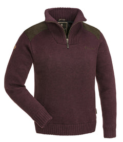 PINEWOOD LADIES HURRICANE SWEATER - DARK BURGUNDY MELANGE