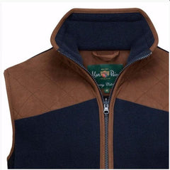 AYLSHAM MENS FLEECE SHOOTING WAISTCOAT -DARK NAVY - reid outdoors