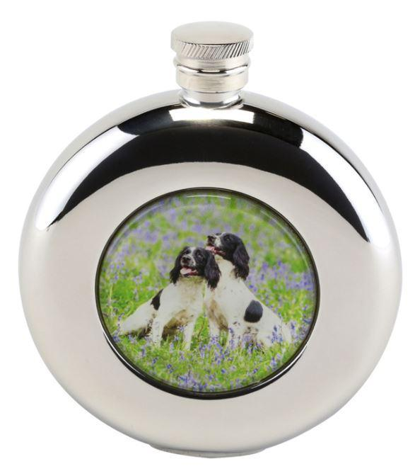 4.5oz Round Hip Flask in Presentation Box by Bisley - reid outdoors