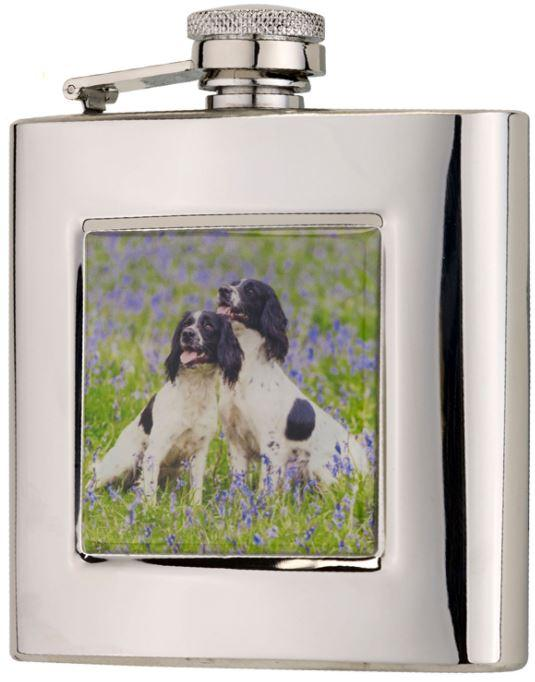 6oz Square Flask in Presentation Box by Bisley - reid outdoors