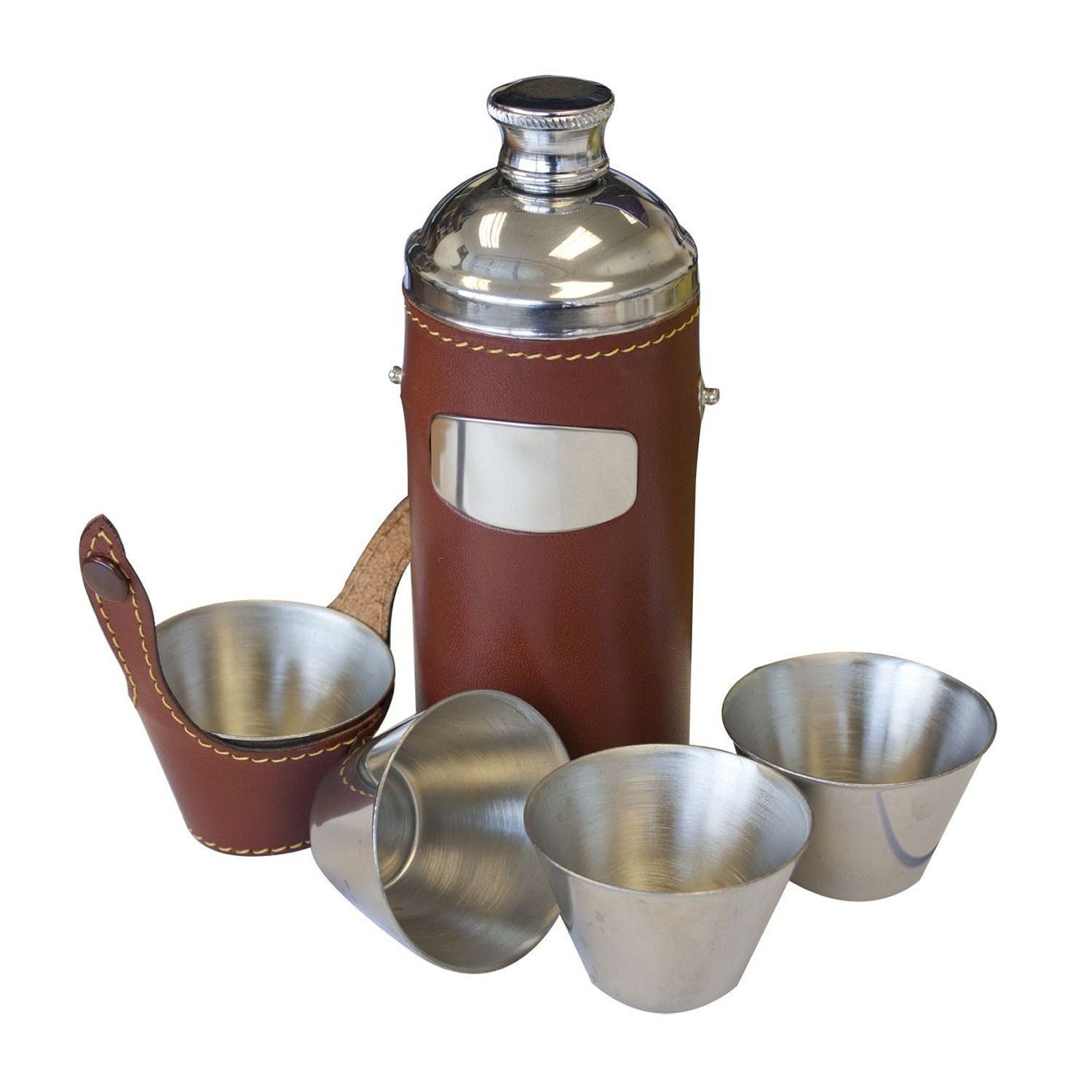 8oz Hunters Flask & Cup Set by Bisley - reid outdoors