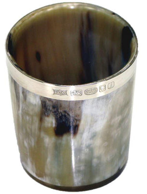 Whisky Tot with Silver Band by Bisley - reid outdoors