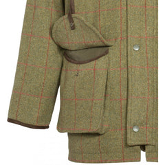 Compton Mens Waterproof Tweed Shooting Coat - Shooting Fit - sage - reid outdoors