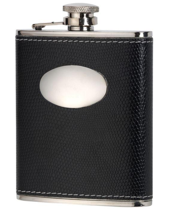 Leather 6oz Hip Flask by David Nickerson - reid outdoors