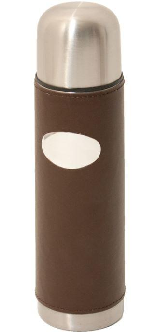 Leather Covered Vacuum Flask by David Nickerson - reid outdoors