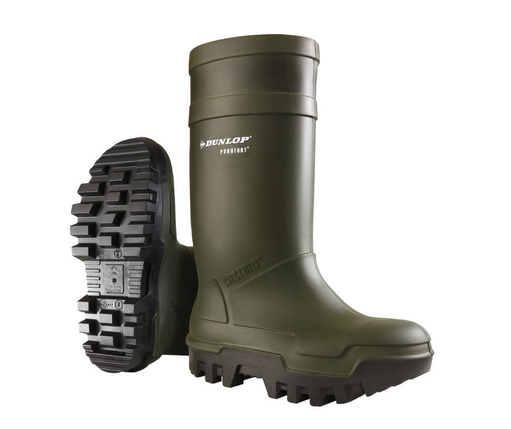 Dunlop thermo wellies GREEN - reid outdoors