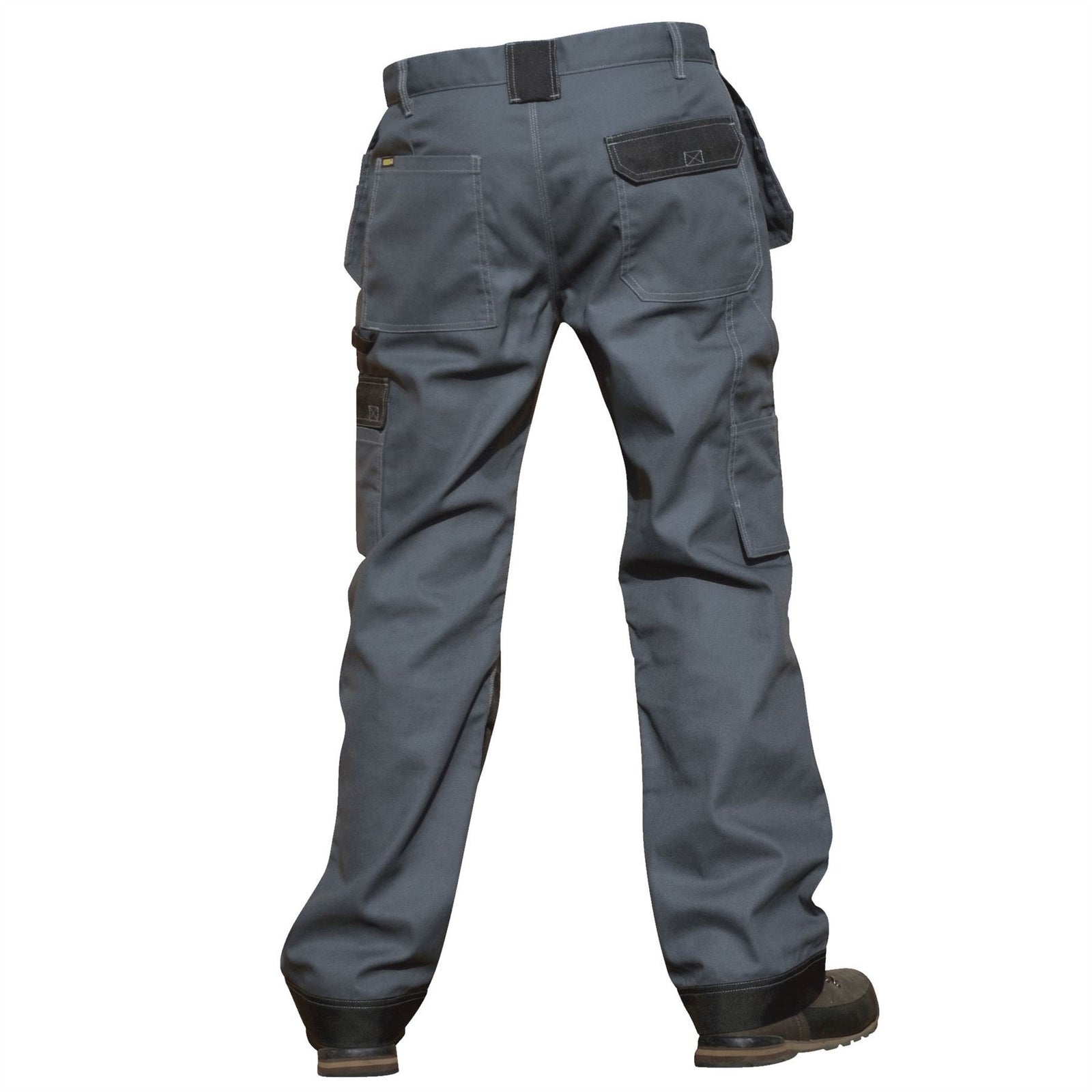 Reid Workwear Regular Leg Heavy Duty Triple Stitched Tough Work Cargo Trousers with Knee Pad Pockets - reid outdoors