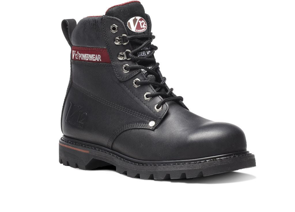V12 Boulder Black S3 Derby Boot