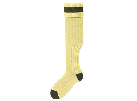 No.14 Stockings Mustard/Olive Socks by Bisley