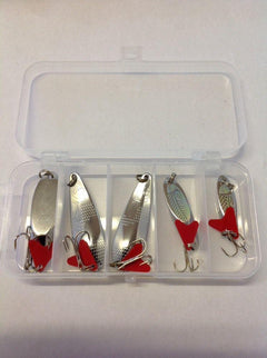 Reid Mixed Box of Spinners x5 - Wedge and Spoon - reid outdoors