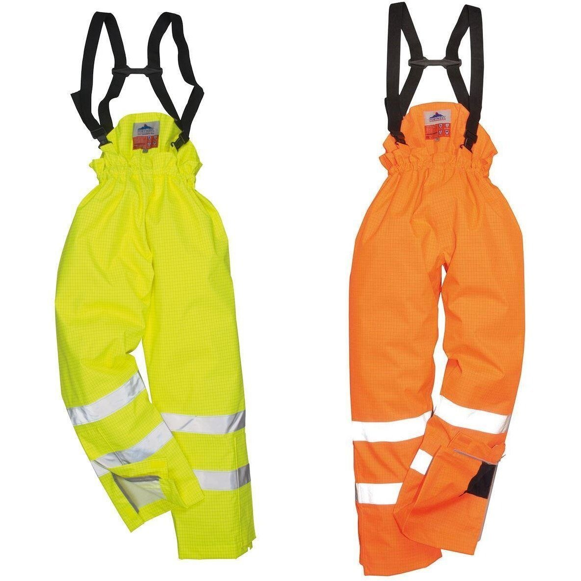 Portwest Bizflame Rain Unlined - Hi Vis Antistatic FR Trouser S780 - reid outdoors