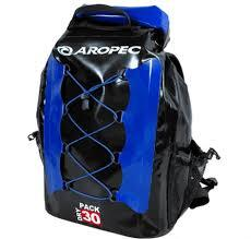 Aropec Coastline Waterproof Backpack - 30L Black/Blue - reid outdoors