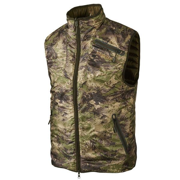 Harkila Lynx Insulated Reversible Waistcoat - Willow Green / AXIS MSP Forest Green