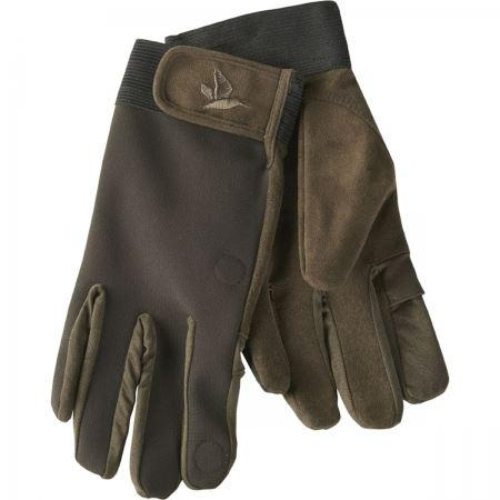 Seeland Softshell Gloves - Black Coffee - reid outdoors
