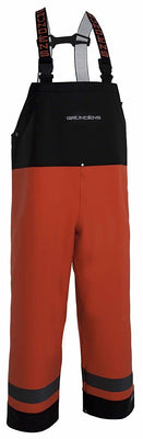 Grundéns XL 504 Balder Bib Trousers - Black/ Orange - reid outdoors
