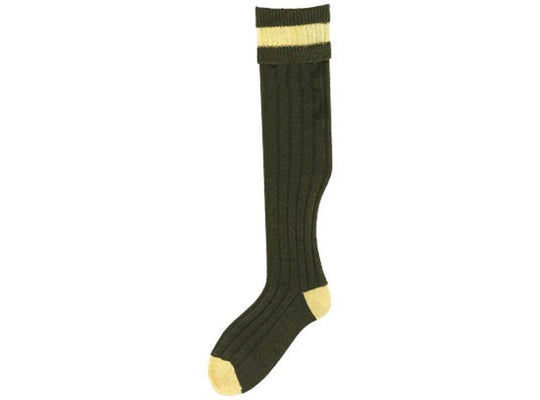 No.16 Stockings Olive/Mustard Socks by Bisley