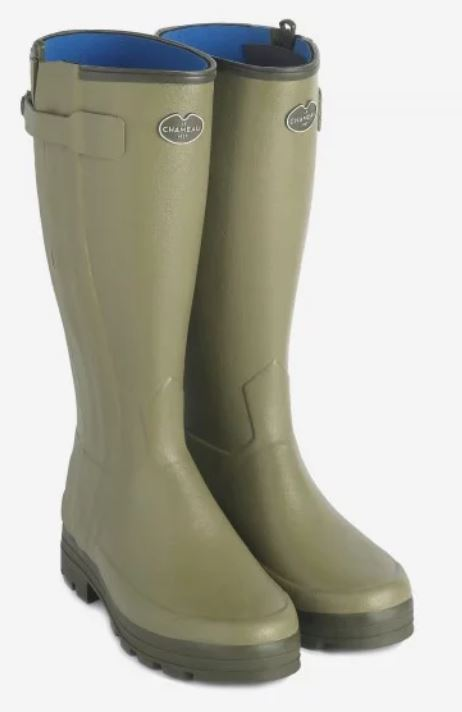 Le Chameau Chasseur Ladies Neoprene Lined Full Zip Wellingtons