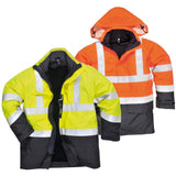 Portwest Bizflame Rain Hi-Vis Multi-Protection Jacket S779 - reid outdoors