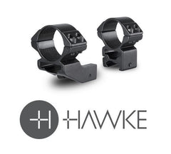 "Hawke 1"" Reach Forward 30mm 2 Piece Weaver High - reid outdoors"