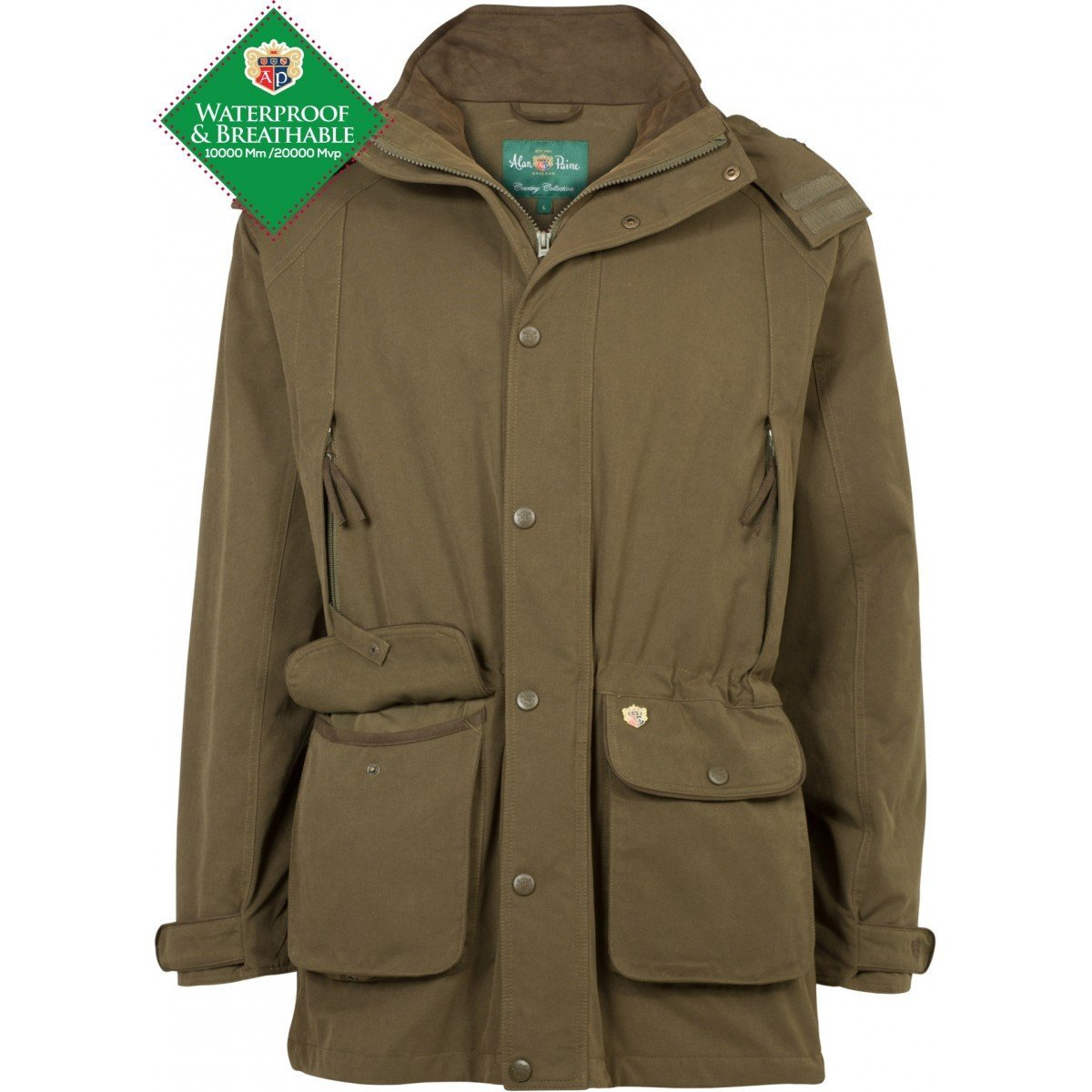 Dunswell Mens Waterproof Jacket - Shooting Fit - Olive - reid outdoors