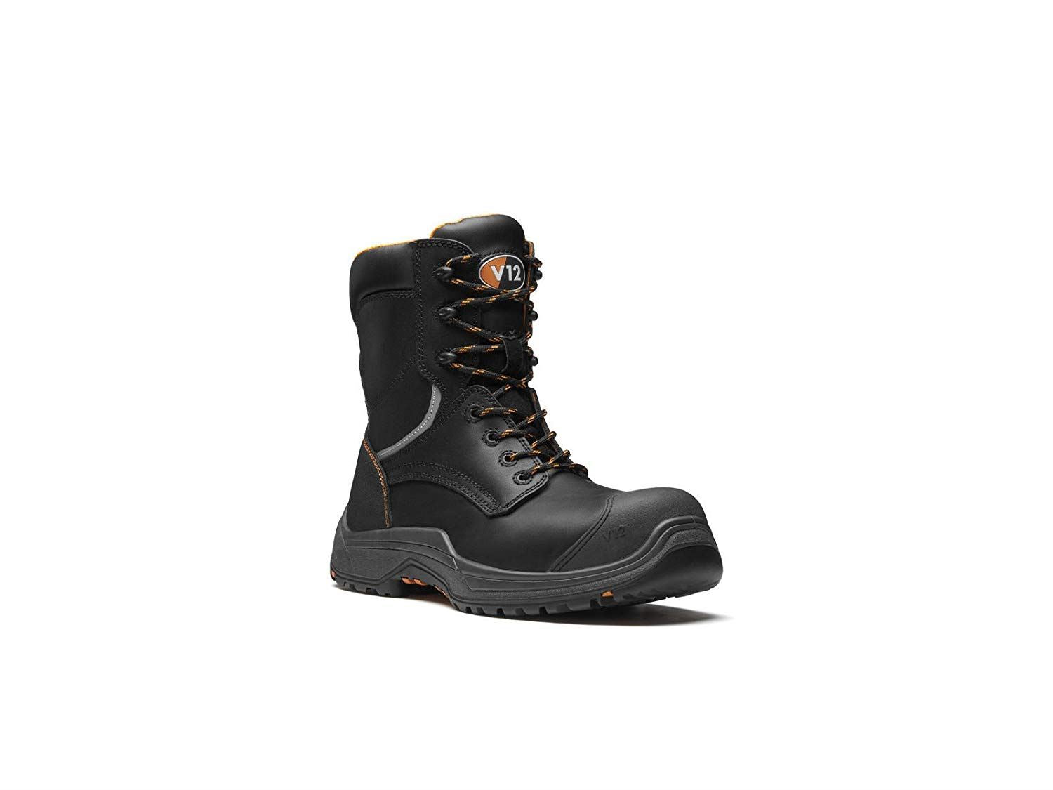 V12 Avenger IGS Zip Side High Leg Boot - Black
