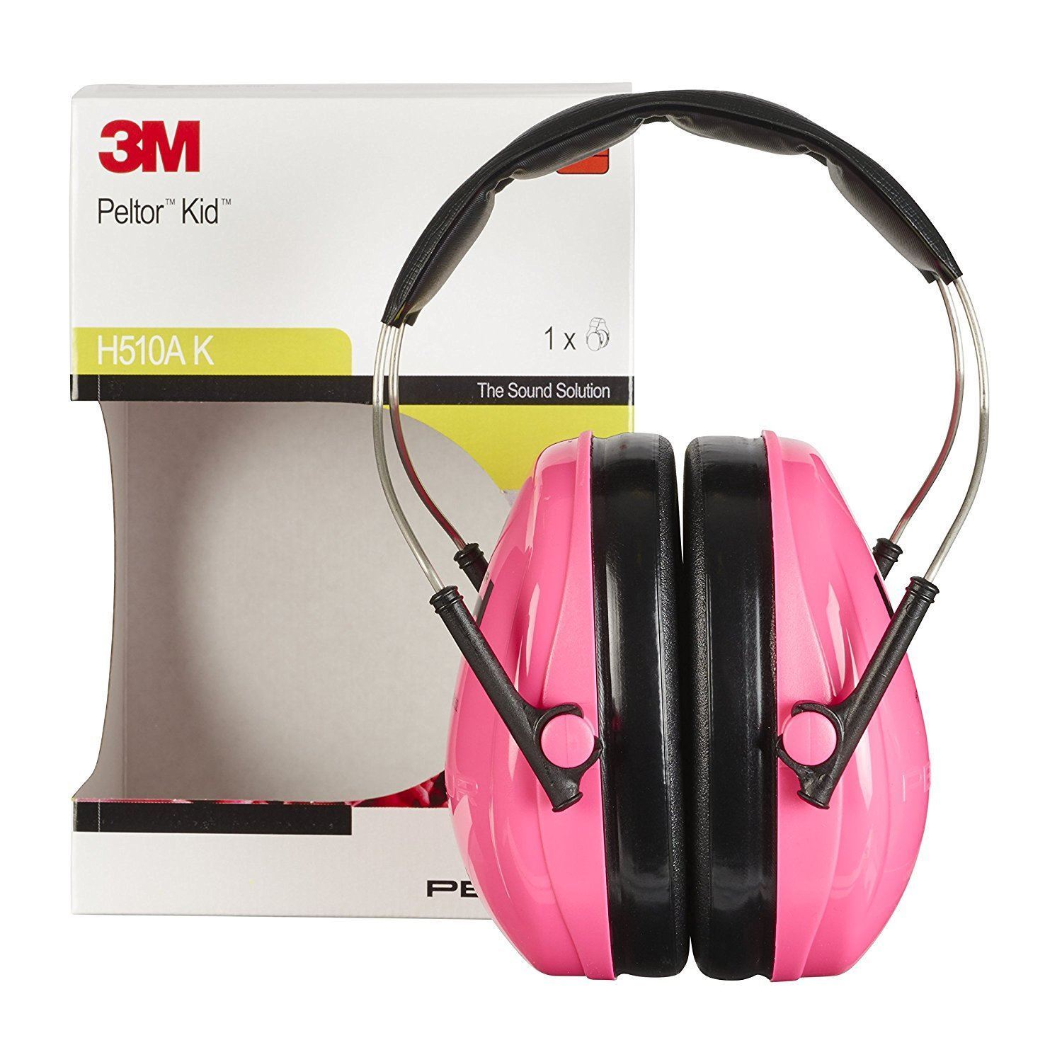 3M Peltor H510AK 442-RE Kid Earmuffs with Headband Ear Defender with Comfortable Wear for Children Neon Yellow/Green - reid outdoors