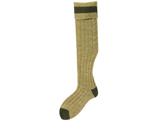No.15 Stockings Antique/Olive Socks by Bisley