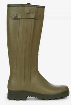 Le Chameau Chasseur Men's Leather Lined Wellingtons-Green