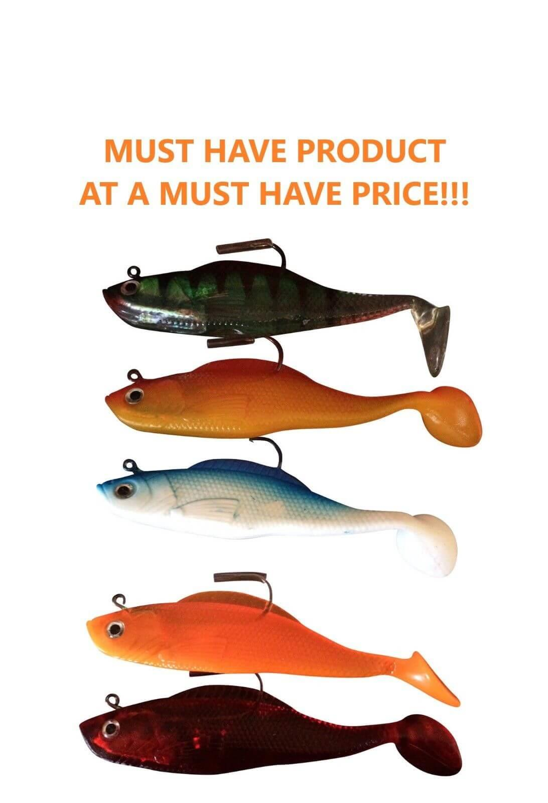Feared by fish Super Solid Shad  Shads 5 43gr  Multi Pack of 5 Lures