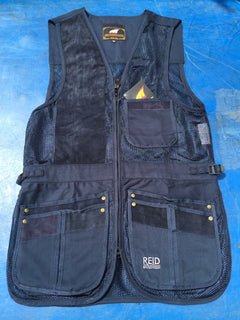 REID NAVY BLUE MESH SKEET VEST SPORTING CLAY PIGEON SHOOTING - reid outdoors