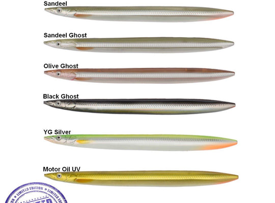 Limtited Addition!! SG Line Thru Sandeel-110mm 15G- (various choices) - reid outdoors