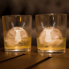 Stag Scotch Bourbon Rocks Glasses